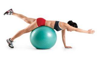 ballon de gym abdos