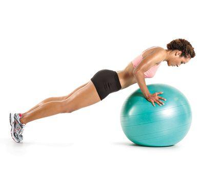 pompes ballon de gym