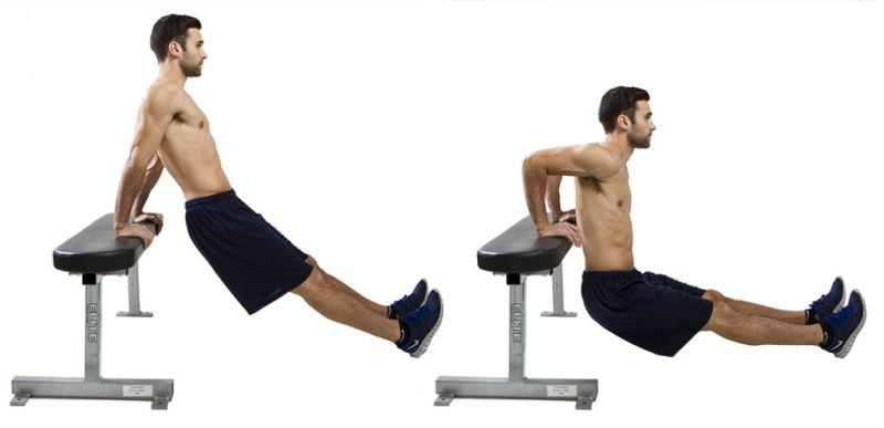 Exercice de musculation dips