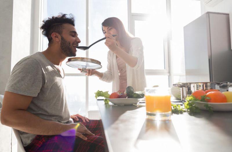 couple diet fitness