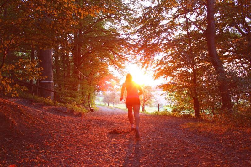running en automne