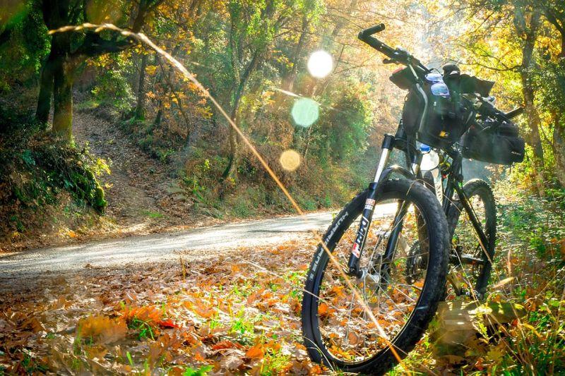 faire du vélo en automne